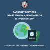 Passport Service Resumes!